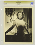 """Movie/TV Memorabilia:Photos, Jean Harlow Vintage Photo. A gorgeous b&w 8"""" x 10"""" portrait ofHarlow. Graded Excellent by CGC. From the Lost HollywoodCo..."""