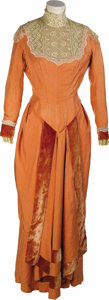 Movie/TV Memorabilia:Costumes, Susan Hayward Costume Dress. A very nice period dress, peach-colored with felt trim, worn by Susan Hayward in an unknown pro...