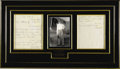 Movie/TV Memorabilia:Autographs and Signed Items, Howard Hughes Handwritten Letter Display. A two-page, handwrittenletter in pencil to Colonel Robert C. Kuldell, the general...