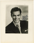 """Movie/TV Memorabilia:Autographs and Signed Items, Jeffrey Hunter Signed Photo. A b&w 8"""" x 10"""" portrait of actor Jeffrey Hunter, inscribed """"For Roy with the sincere hope that ..."""
