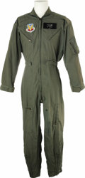 "Movie/TV Memorabilia:Costumes, ""Independence Day"" Screen-Worn Movie Costume. An original,military-issue U.S. Air Force flight suit, featuring an AirComma..."