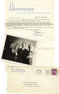 Movie/TV Memorabilia:Autographs and Signed Items, Stan Laurel Signed Letter with Photo. Typed letter with envelope to a acquaintances dated February 3, 1961 and signed by th...