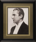 Movie/TV Memorabilia:Photos, Bela Lugosi Photo from His Estate. Typecast playing monsters and villains in movies such as Dracula, Son of Frankenstein,...