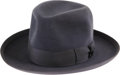 Movie/TV Memorabilia:Costumes, Bela Lugosi's Fedora. A handsome suede finish, blue-grey fedora,from Lugosi's personal wardrobe. In Excellent condition wit...