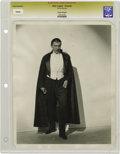 "Movie/TV Memorabilia:Photos, Bela Lugosi Vintage ""Dracula"" Photo. A b&w 8"" x 10"" photo ofLugosi in his most famous role, likely printed for the late '30..."