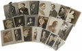 "Movie/TV Memorabilia:Autographs and Signed Items, Vintage Photos of Early Actors. Set of 20 vintage b&w 8"" x 10""photos of early stage and screen actors, many of them autogr..."