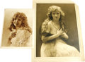 Movie/TV Memorabilia:Photos, Two Photos of Mary Miles Minter. Is there something eerilyattractive about this notorious silent screen star, or does that... (Total: 2 )