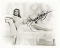 "Movie/TV Memorabilia:Autographs and Signed Items, Elizabeth Montgomery Signed Photo. A stunning b&w 8"" x 10""photo of the Bewitched star, signed by her in black ink. InE..."
