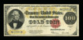 Large Size:Gold Certificates, Fr. 1215 $100 1922 Gold Certificate Very Fine....