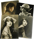 """Movie/TV Memorabilia:Autographs and Signed Items, Four Photos of Colleen Moore, Two Signed. Credited with havingdefine the look of the """"flapper"""" in Flaming Youth (1923),...(Total: 4 )"""