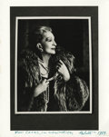 "Movie/TV Memorabilia:Autographs and Signed Items, Helmut Newton Signed Photo of Coral Browne. A wonderful 8"" x 10"" b&w photo of Vincent Price's wife, Coral Browne, by influen..."