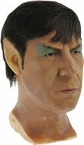 Movie/TV Memorabilia:Memorabilia, Leonard Nimoy Wax Head. Wax likeness of actor Leonard Nimoy as Mr.Spock, from the Movieland Wax Museum. In Very Fine condit...