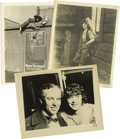 Movie/TV Memorabilia:Photos, Three Original Mabel Normand Photos, One with Charles Chaplin. This packet offers a wonderful trio of Mabel portraits. Numbe... (Total: 3 )