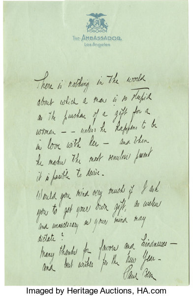 Paul bern letter to mabel normand the labor day 1932 suicide movietv memorabiliaautographs and signed items paul bern letter to mabel normand expocarfo Image collections