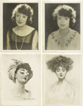 "Movie/TV Memorabilia:Photos, Four Mabel Normand Photos and Drawings. This lot presents twoexquisite 11"" x 14"" portraits of Mabel, both remarkable for th...(Total: 4 )"