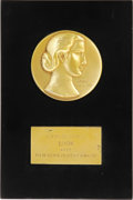 "Movie/TV Memorabilia:Awards, Kim Novak's ""Look"" Award. Kim Novak's Film Achievement Award, presented to her by Look magazine in 1955. In Excellent co..."