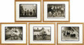 "Movie/TV Memorabilia:Memorabilia, Our Gang Set of Five Framed Vintage Photos. Five vintage Our Gang promo photos, framed and matted to an overall size of 15"" ..."
