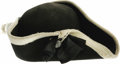 """Movie/TV Memorabilia:Costumes, Tri-Cornered Hat from """"The Patriot."""" A prop Colonial-era Britishuniform hat worn by an extra in Roland Emmerich's historica..."""