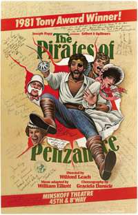 """""""Pirates of Penzance"""" Signed Poster. Colorful 14"""" x 22"""" poster for The Pirates of Penzance, the Gilb..."""