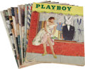 """Movie/TV Memorabilia:Memorabilia, """"Playboy"""" Magazine Group of 10 (1955-56) Condition: Average Fine. Vintage copies of the June, July, August, and November 195... (Total: 10 Items)"""