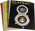 "Movie/TV Memorabilia:Memorabilia, ""Playboy"" Magazine Group of 12 (1958-59) Condition: Average Fine.Vintage copies of the June, July, and November 1958, and J...(Total: 12 Items)"