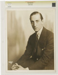"Movie/TV Memorabilia:Photos, Basil Rathbone Vintage Portrait Photo. A b&w 11"" x 14"" photo ofRathbone as a young man. Graded Excellent by CGC. Fromthe..."