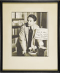 "Movie/TV Memorabilia:Autographs and Signed Items, Edward G. Robinson Signed Photo. A b&w 8"" x 10"" photo signed bythe Little Caesar star in black. Matted and framed to an..."