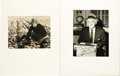 """Movie/TV Memorabilia:Autographs and Signed Items, Edgar G. Robinson and Walter Winchell Signed Photos. Included are ab&w 8"""" x 6"""" photo signed by Robinson in blue ink and a b..."""