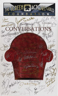 "Movie/TV Memorabilia:Autographs and Signed Items, Screen Actors Guild Signed Poster. This 27"" x 44"" poster for SAG's2005 ""Conversations"" lecture series is signed by 50 stars..."