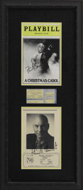Movie/TV Memorabilia:Autographs and Signed Items, Patrick Stewart Framed Signature Ensemble. Included is a copy ofPlaybill from an off-Broadway production of TheChri...