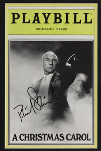 movietv memorabiliaautographs and signed items patrick stewart framed signature ensemble - A Christmas Carol With Patrick Stewart