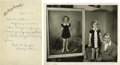 "Movie/TV Memorabilia:Autographs and Signed Items, Letter from Shirley Temple's Mom. A handwritten letter fromGertrude Temple, dated October 5, 1936. It reads: ""Dear Mr. Cost..."