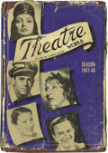 "Movie/TV Memorabilia:Autographs and Signed Items, Signed Copy of ""Theatre World 1947-48."" A vintage copy of theannual publication, signed by 61 actors, including Henry Fonda..."
