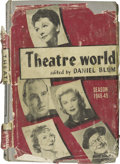 "Movie/TV Memorabilia:Autographs and Signed Items, Signed Copy of ""Theatre World 1948-49."" A vintage copy of theannual publication, signed by 49 actors, including Tallulah Ba..."