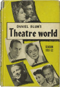 "Movie/TV Memorabilia:Autographs and Signed Items, Signed Copy of ""Theatre World 1951-52."" A vintage copy of theannual publication, signed by Julie Harris, Romney Brent, Fran..."