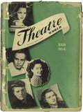 """Movie/TV Memorabilia:Autographs and Signed Items, Signed Copy of """"Theatre World 1945-46."""" The statistical andpictorial record of the Broadway and off-Broadway season, tourin..."""
