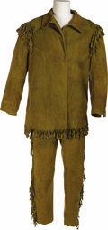 "Movie/TV Memorabilia:Costumes, Spencer Tracy's Costume from ""Northwest Passage."" Faux buckskin pants and tunic worn by Tracy in the 1940 adventure film. (T..."