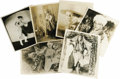 "Movie/TV Memorabilia:Photos, Rudolph Valentino Vintage Photos. Six vintage b&w 8"" x 10""promotional photos from the actor's estate, sold for auctionafte..."