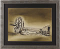 "Movie/TV Memorabilia:Original Art, ""Wagon Train"" Title Card. Following the trials and tribulations ofpioneering families as they set out from the East to car..."