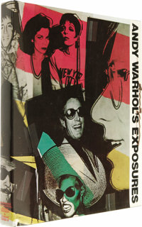 """Andy Warhol Signed Copy of """"Exposures."""" A first edition, first printing of Warhol's 1979 book, featuring 360 p..."""