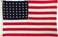 "Movie/TV Memorabilia:Props, Prop Flag from ""They Were Expendable."" The aft flag from the ill-fated PT Boat #34 in the 1945 war drama, directed by John F..."