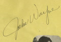 Movie/TV Memorabilia:Autographs and Signed Items, Early John Wayne Autograph. An autograph album page signed by the Duke in black ink, dated January 25, 1940. In Excellent co...