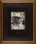 "Movie/TV Memorabilia:Autographs and Signed Items, John Wayne Signed Photo Display. A b&w 8"" x 10"" photo inscribed ""Barbara, Best wishes to you -- also your grandparents"" and ..."