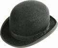 Movie/TV Memorabilia:Memorabilia, Orson Welles' Derby. This black felt derby hat was obtained atauction from Welles estate in 1992, and comes from the acclai...