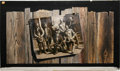 "Movie/TV Memorabilia:Original Art, Original Billboard Art from ""The Wild Bunch."" No less controversialand stunning today than it was during its original thea..."