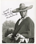 "Movie/TV Memorabilia:Autographs and Signed Items, Marlon Brando Signed ""The Appaloosa"" Photo. A b&w 8"" x 10""glossy of Brando from the 1966 Western, inscribed ""Donald -Thank..."