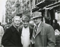 "Movie/TV Memorabilia:Photos, Marlon Brando, Mario Puzo, and Red Buttons ""The Godfather"" SetPhoto by Jack Stager. A great 11"" x 14"" b&w silver gelatinpr..."