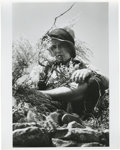 "Movie/TV Memorabilia:Photos, Marlon Brando in ""The Missouri Breaks"" Photo. A very nice 11"" x 14""silver gelatin print featuring Marlon Brando as Robert E..."