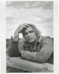 "Movie/TV Memorabilia:Photos, Marlon Brando ""Missouri Breaks"" Photo by Mary Ellen Mark. A very nice 11"" x 14"" silver gelatin print featuring a close-up of..."