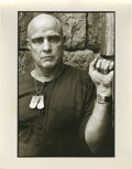"Movie/TV Memorabilia:Photos, Photo of Marlon Brando as Colonel Kurtz by Mary Ellen Mark. An 11""x 14"" b&w silver gelatin print of Marlon Brando as Colone..."